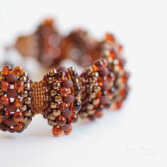 Comfortable and flexible bracelet, handbeaded by me choosing brown colors. So warmy and bright colors. Perfect for autumn season. I love earth Wave Jewelry, Beaded Jewelry, Handmade Jewelry, Jewelry Rings, Seed Bead Bracelets, Bangle Bracelets, Fabric Beads, Schmuck Design, Bead Weaving