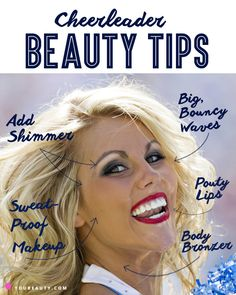 Ready for the Superbowl? Check out these cheerleader beauty secrets!