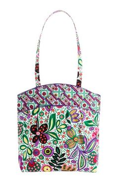 $68.00-$68.00 Handbags  Vera Bradley Criss Cross Tote Bag in Viva la Vera - A classic carryall.  The Tote is a super versatile style bag from Vera Bradley. This one features a pretty criss cross pattern and pleated detail on the front, giving it an even prettier finish.  Beautiful fabric bag in a multicolored Vera Bradley pattern. Interior is lined in another fun complementary pattern.  Features a ...