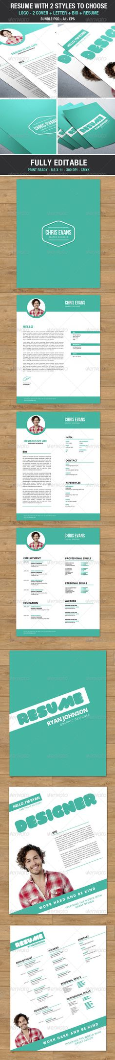 Clean, Creative, Modern \ High Class Smart CV Template PSD - Modern Resume Styles