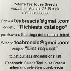 Get the teas' and infusions' list right now!