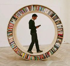 David Garcia Studio's Circular #Book Library. #bookshelf #cool (I need to make this for my brother, Jon. :0)
