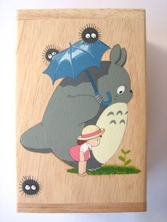 My Neighbor Totoro Hand Paint wood Box Studio Ghibli 13. $14.50, via Etsy.  Really like the image.  Def something I could hand paint on the wall.