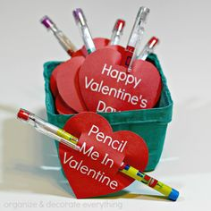 Pencil Valentine with free Printable 2.1