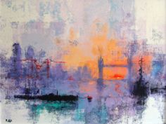 LONDON DAWN by Colin Ruffell.  also see www.crabfish.com for more choices