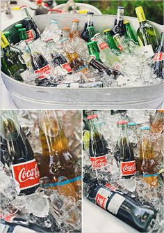 galvanized bucket with coke http://www.weddingchicks.com/2013/10/10/casual-temecula-wedding/