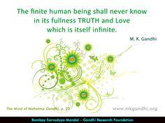 #truth #gandhi #gandhiquotes Mahatma Gandhi Quotes, Mindfulness, Quotes By Mahatma Gandhi, Consciousness