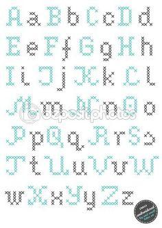 Cross Stitch Alphabet Patterns, Cross Stitch Designs, Stitch Patterns, Crochet Alphabet, Cross Stitch Numbers, Cross Stitch Letters, Simple Cross Stitch, Cross Stitching, Cross Stitch Embroidery