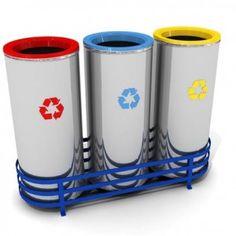 Bestseller-Wertstoffsammler / Mülltrennsystem für Abfall- und Mülltrennung WXK 608A aus hochwertigem und rostfreiem Edelstahl (3 x 47Liter)   RecyclingUp! - Österreichs, Deutschlands und der Schweiz größte Auswahl an Recycling Tonnen, Wertstoffsammler, Abfalltrennsysteme, Mülltrennsysteme für Kunststoff-Recycling, Metall-Recycling, PET-Recycling, Papier-Recycling, Glas-Recycling oder Wertstoff-Recycling