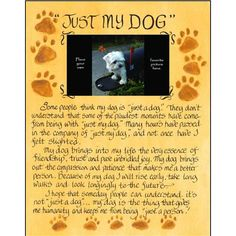 Found it at Wayfair.ca - Life Lines Just My Dog Photo Plaque Textual Art Plaque