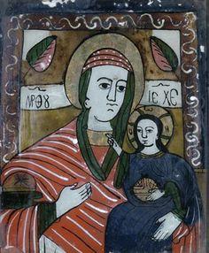 Christian Paintings, Ikon, Madonna, Child, Glass, Art, Paint, Art Background, Boys