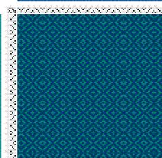 Weaving Draft teal double diamond twill, Something I drafted using Pixeloom., Upper Great Laker Region, 2004-2015, #54021