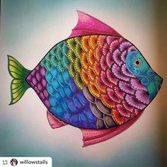 #johannabasford #artwork #artterapy #beautiful #fish