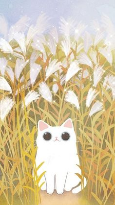 40 New Ideas Wallpaper Cute Cat Art Cute Cartoon Wallpapers, Animes Wallpapers, Kawaii Cat, Cat Wallpaper, Trendy Wallpaper, Cat Drawing, Cute Illustration, Cat Art, Cute Cats