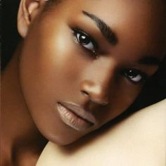 Gorgeous her skin is just gorgeous! .