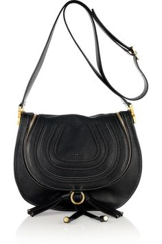 Chloé - Marcie Medium Hobo Cross-Body Bag, calf leather, in black, €795 (also available, here: http://www.mytheresa.com/euro_en/marcie-leather-messenger-bag.html)