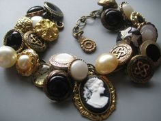 button jewelry | Tumblr