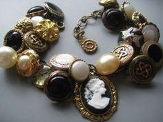button jewelry | Tumblr