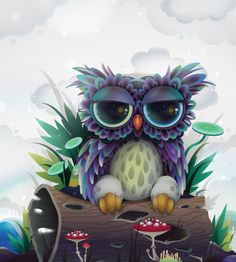 Owl character for CA Projects by ☆ - ☆ zutto, via Flickr