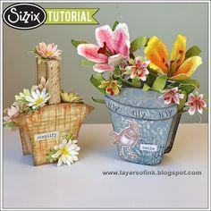Sizzix Die Cutting Tutorial   Flower Baskets by Anna-Karin Evaldsson
