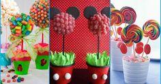 Para fiestas infantiles, baby showers, bautizos y  otras celebraciones quedan súper bien los centros de mesa llenos de color y dulzura.   Ad...