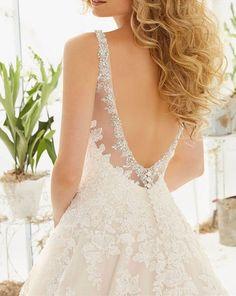 Sexy V-neck Lace Trim Wedding Bridal Dresses 2016 Bridal Gowns