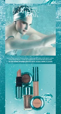 #MAC Alluring Aquatic Collection....a sea inspired range of metallic and shimmery colours in amazing teal chrome packaging. It's a makeup collection fit for a #mermaid! Now available at #MACCosmetics on Front Street.