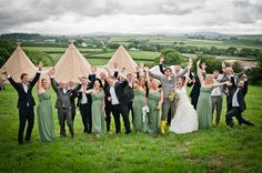 """A """"mix up mash of Cornish farmer, woodland wildflowers, hippie chic with a bit of vintage thrown in"""". Tipi Wedding, Farm Wedding, Hippie Chic Weddings, Church Ceremony, Creative Wedding Photography, London Wedding, Party Photos, Wildflowers, Teepees"""