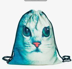 Cat Face Sack Bag
