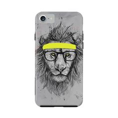 ArtsCase - StrongFit Designers Case for Apple® iPhone® 7 - Yellow/Gray, AC1347454