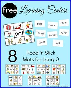 Long o word families - 8 free read 'n stick mats!