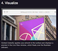 Photorealistic onscreen mockups. Visualize realistic embossing, foil, silk screen, letterpress, etc.