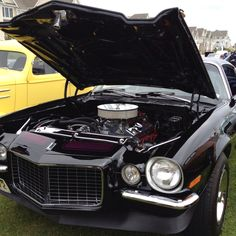 1972 Chevy Camaro - beautiful down to the color-black w/ purple racing stripes. From Fathers Day Car Show in Long Branch, NJ