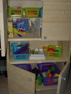 play kitchen storage