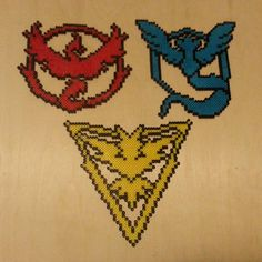 Pokemon GO - Teams perler beads by chads_perler_bead_creations