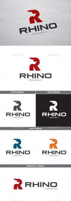 Rhino - Logo Design Template Vector #logotype Download it here: http://graphicriver.net/item/rhino-logo/9053497?s_rank=123?ref=nesto
