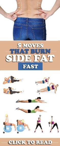 5 Effective Exercises To Reduce Side Fat Fast burn belly fat fast for men Fitness Workouts, Sport Fitness, Health Fitness, Burn Belly Fat Fast, Reduce Belly Fat, Lose Belly, Side Fat Workout, Lose Body Fat, Fat To Fit