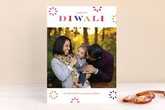 Bright Bursts Diwali Cards by lena barakat at minted.com