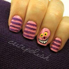 Cute cheshire cat nails by Cute Polish