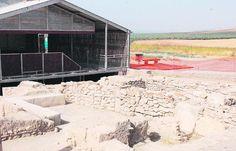 ciudad ibero-romana. Vista de uno de los edificios en los que ha trabajado el equipo de Forvm MMX en el yacimiento arqueológico de Cástulo.