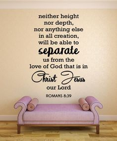 Romans 8:39 Bible Verse Wall Decal