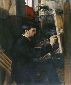 Painter P.-A.-J. Dagnan-Bouveret. Portrait by Albert Edelfelt 1881. Oil on canvas.
