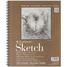 Sketchbook Sketch Pad 9 x 12 in 60 Pound 100 Sheets Paper Art Drawing Painting #Strathmore