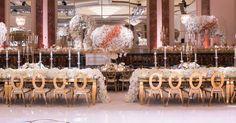 Beautiful family tables enjoyed the most magnificent floral centerpieces(Venue: @beverlywilshire   Planner: @internationaleventco   Florist: @kevinleeproductions   Ceremony Music: @whoisdsharp   Photographer: @john_solano_photography   Video: @davidmedillproductions   Lighting: @mjlightingdecor   Decor/Rentals: @palacepartyrental   Music: @djsepi   Cake: @jandlcakes   Photo Booth: @mirmirphoto)
