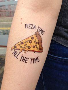 Pizza Temporary Tattoo, Pizza Time Tattoo, Pizza Party Tattoo