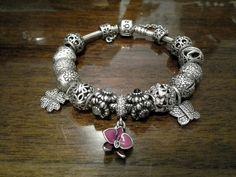 Pandora bracelet flowers,butterfly and love ♡
