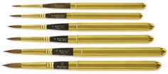 Original Pinner: The best travel watercolor brushes in my opinion Art Painting Supplies, Art Supplies, Watercolor Brushes, Watercolor Paintings, Watercolors, Watercolor Techniques, Art Techniques, Paint Brush Sizes, Travel Brushes