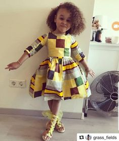 Ankara Styles For Kids; Little Girls And Baby Girls Ankara Styles Baby African Clothes, African Dresses For Kids, African Children, African Inspired Fashion, African Print Fashion, African Fashion Dresses, African Outfits, African Attire, African Wear