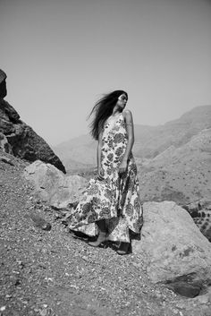 """Marie Jaquemot by Alexander Thorsen - Editorial """"In the midst of the mountains"""" - Shot in Dubai"""