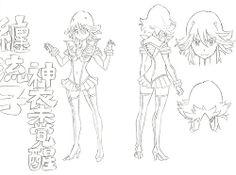 KILL LA KILL Character Concept Art I think sushio is my favorite anime artist so far his style is very unique